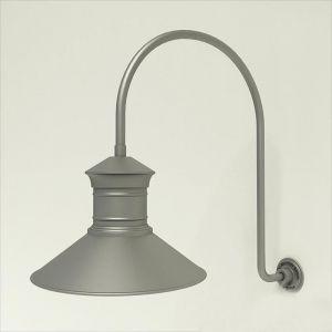 "Gooseneck Light Aluminum - 25.25"" x 39"" Arm with 18"" Barn Light Shade"