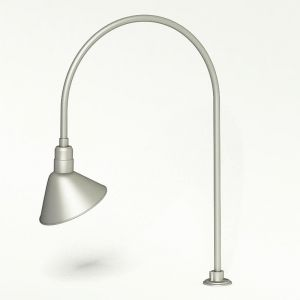 """Gooseneck Light Aluminum - 27.5"""" W x 40.25"""" H, Arm - with 12in. Angle Shade"""
