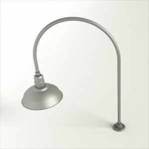 """Gooseneck Light Aluminum - 27.5"""" W x 40.25"""" H, Arm - with 14in. Warehouse Shade"""