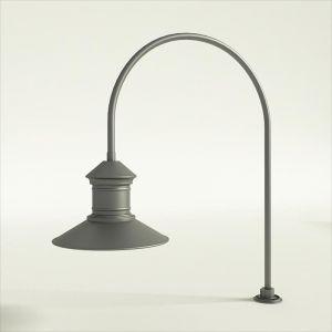 "Gooseneck Light Aluminum - 27.5"" x 3/4"" Dia. Arm with 16"" Barn Light Shade"