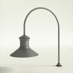 "Gooseneck Light Aluminum -27.5"" x 3/4"" Dia. Arm with 18"" Barn Light Shade"