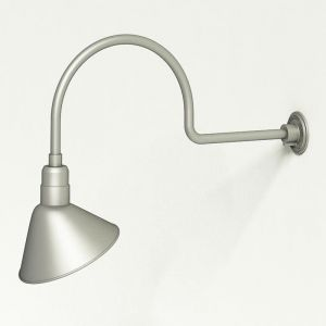 """Gooseneck Light Aluminum - 29.75"""" W x 12"""" H, Arm - with 12in. Angle Shade"""