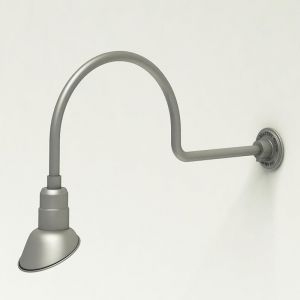 """Gooseneck Light Aluminum - 29.75"""" W x 12"""" H, Arm - with 7in. Angle Shade"""