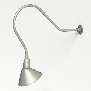 """Gooseneck Light Aluminum - 35"""" W, Arm - with 12in. Angle Shade"""