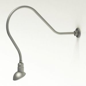 "Gooseneck Light Aluminum - 35"" W, Arm - with 7in. Emblem Shade"