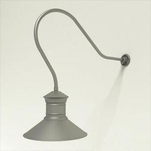 "Gooseneck Light Aluminum - 35"" x 3/4"" Dia. Arm with 18"" Barn Light Shade"