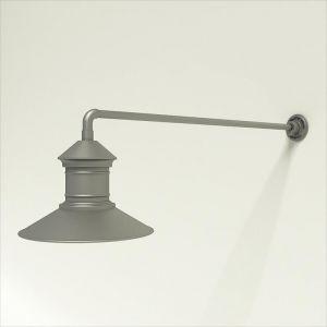 "Gooseneck Light Aluminum - 37.5"" x 3/4"" Dia. Arm with 16"" Barn Light Shade"