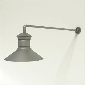 "Gooseneck Light Aluminum - 37.5"" x 3/4"" Dia. Arm with 18"" Barn Light Shade"