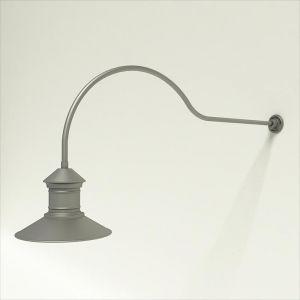 "Gooseneck Light Aluminum - 54.25"" x 3/4"" Dia. Arm with 16"" Barn Light Shade"