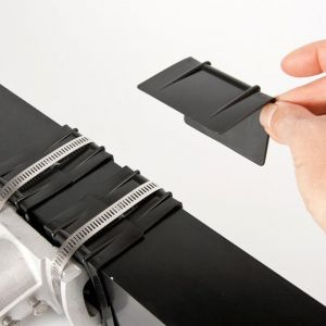 Plastic corner strap guards-Black
