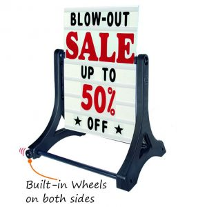 Deluxe Swinger Sidewalk Message Board Sign