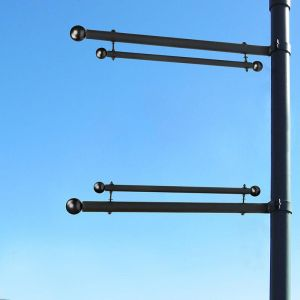 Trapeze Banner One-Way Bracket, Any Size/Shape Pole Mount for 18in.W Banner