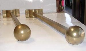 Two-Way Ball Finial Banner Bracket Set- ArmoreCoat Brass