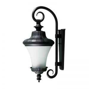 Wall Fixture with Leaf Detail- Black - 120V