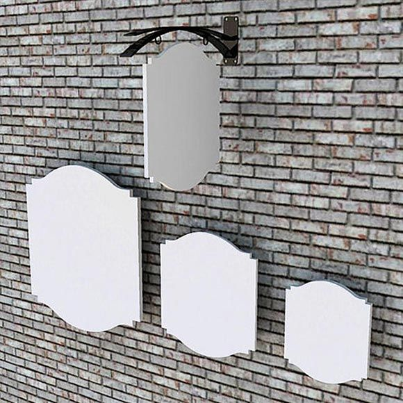 Variety of shapes and sizes of sign blanks