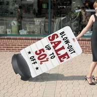 Portable sidewalk signs and stands