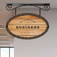 Ceiling sign brackets