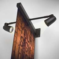 Sign brackets with lights