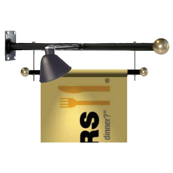 What are Trapeze Wall and Pole Banner Brackets